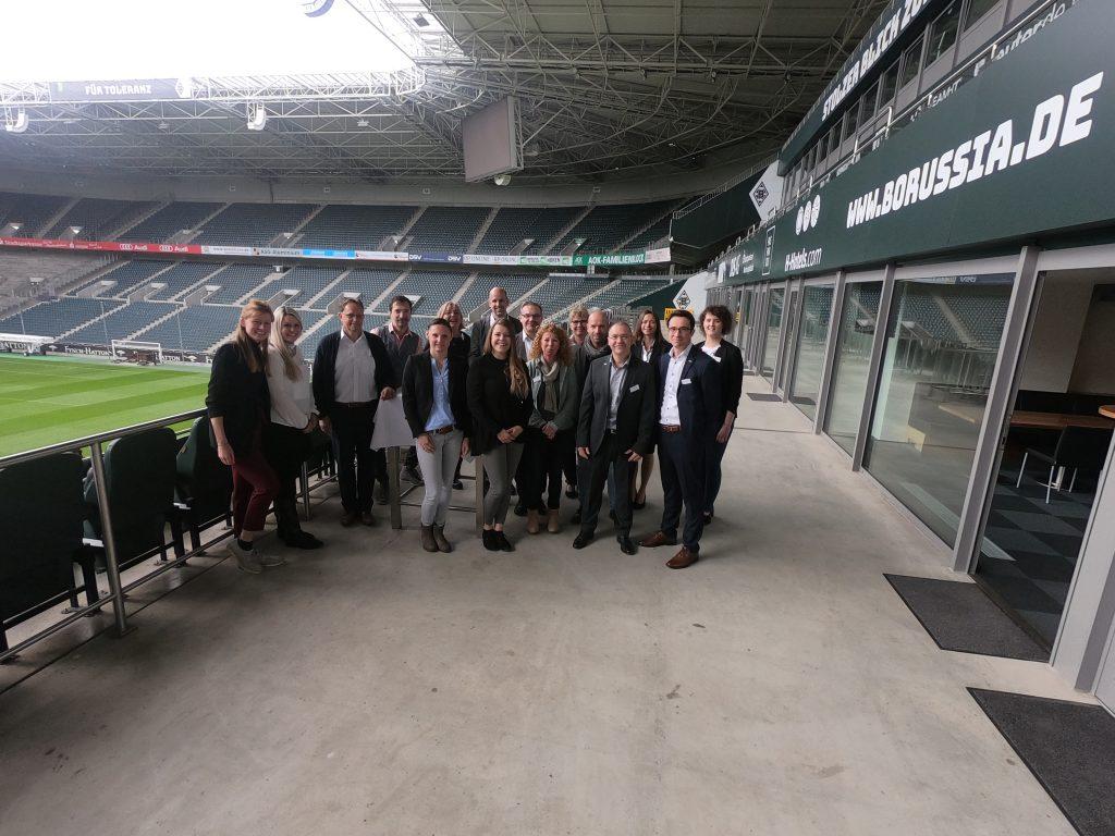 PICC-Netzwerk Fußballstadion des Fußball-Bundesligisten Borussia Mönchengladbach